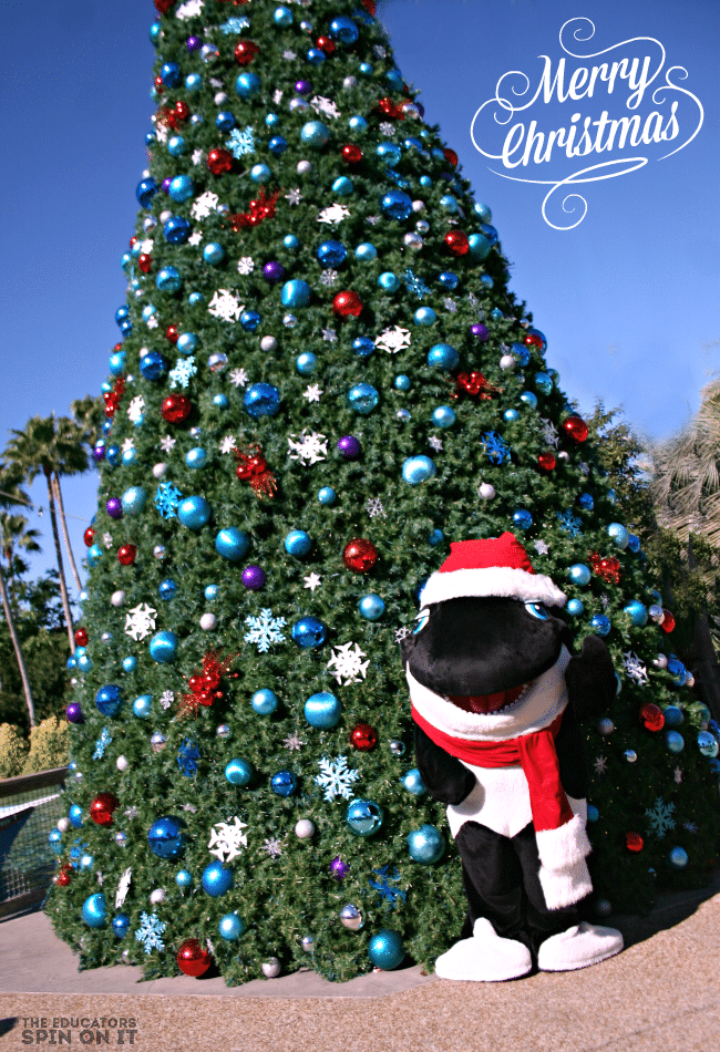 SeaWorld Christmas Celebration in Orlando.  Tips for what to do for the Holidays from The Educators' Spin On It