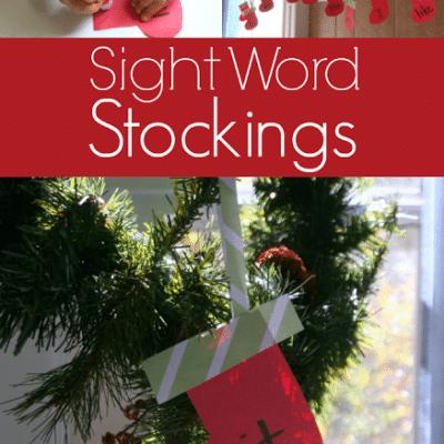 Stocking Themed Sight Word Activity