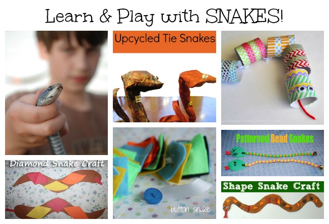 Eco-friendly Snake Craft for kids