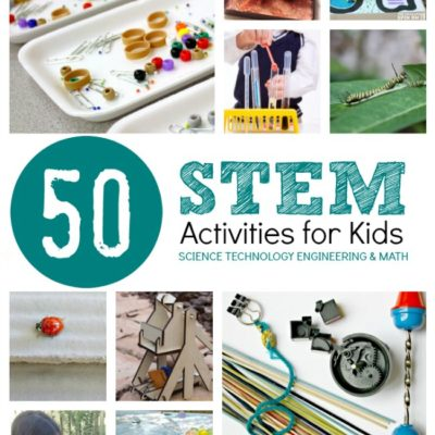 50 STEM Activities for Kids. Explore Science, Technology, Engineering and Math with your child with hands on fun.