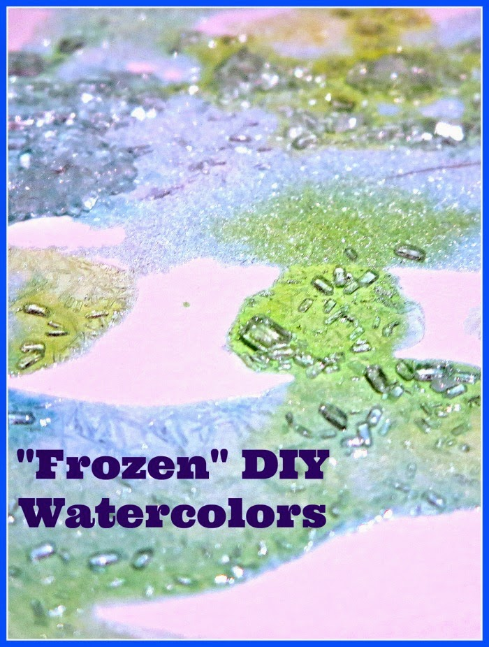Frozen DIY Watercolors