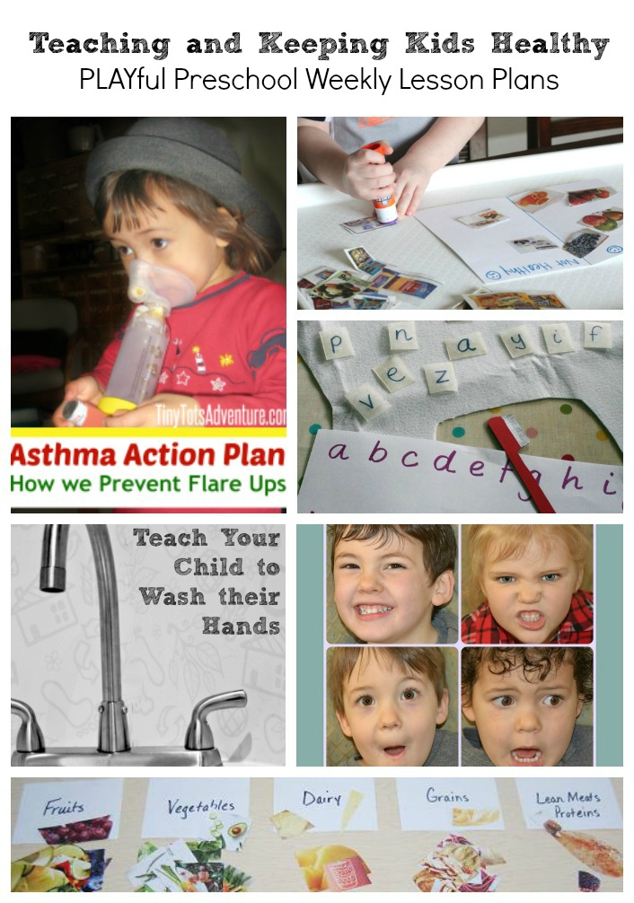 Teaching and Keeping Preschoolers Healthy with Lesson Plans for Asthma, Tooth Brushing, Hand washing, Healthy Eating, Learning about Emotions and More!