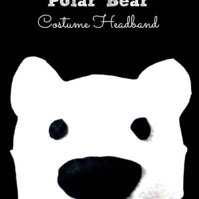 Polar Bear Costume Headband for Kids
