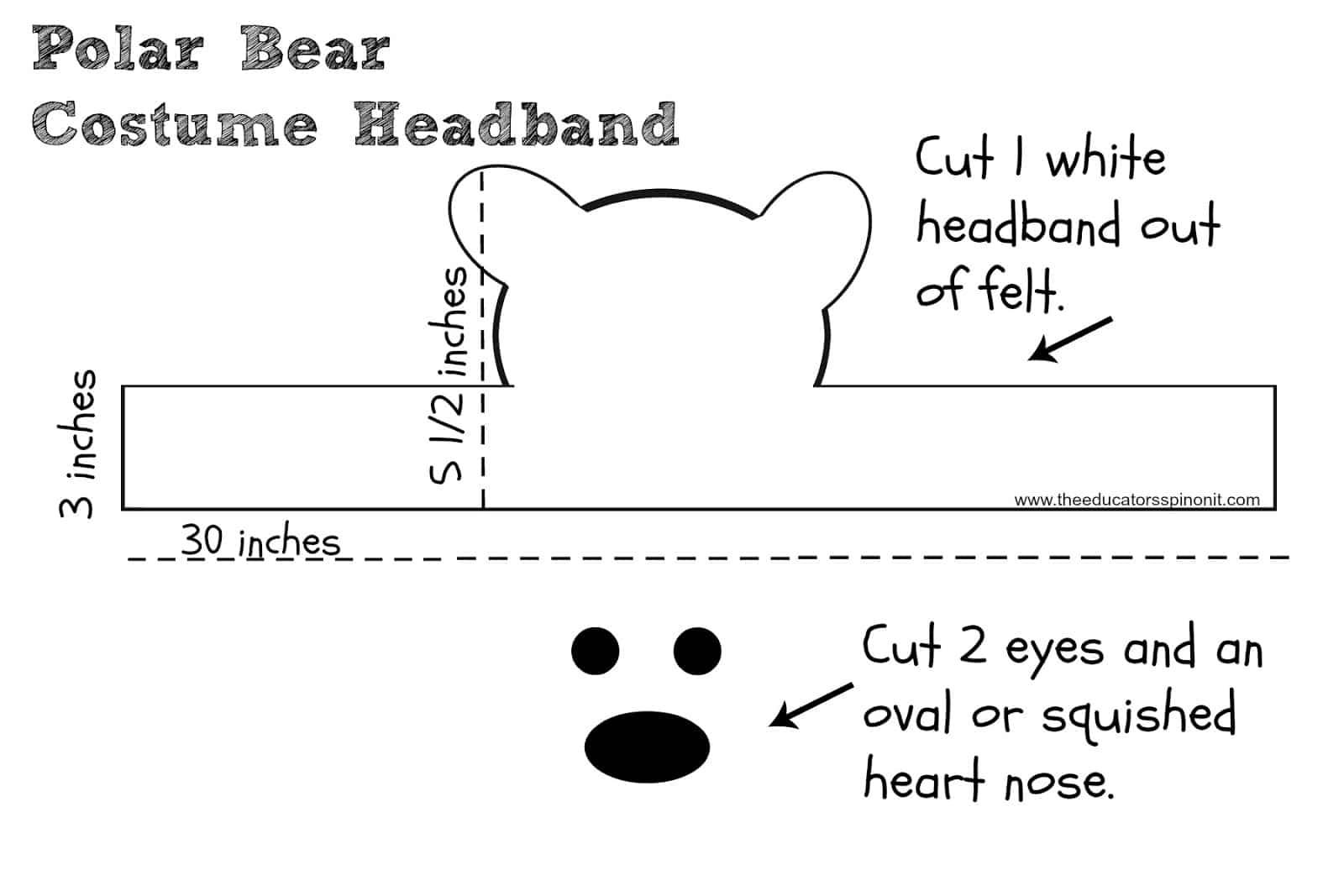 polar bear costume headband for kids the educators u0027 spin on it