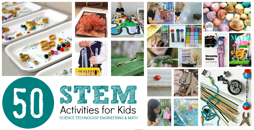 50 STEM Activities for Kids featured at The Educators' Spin On It