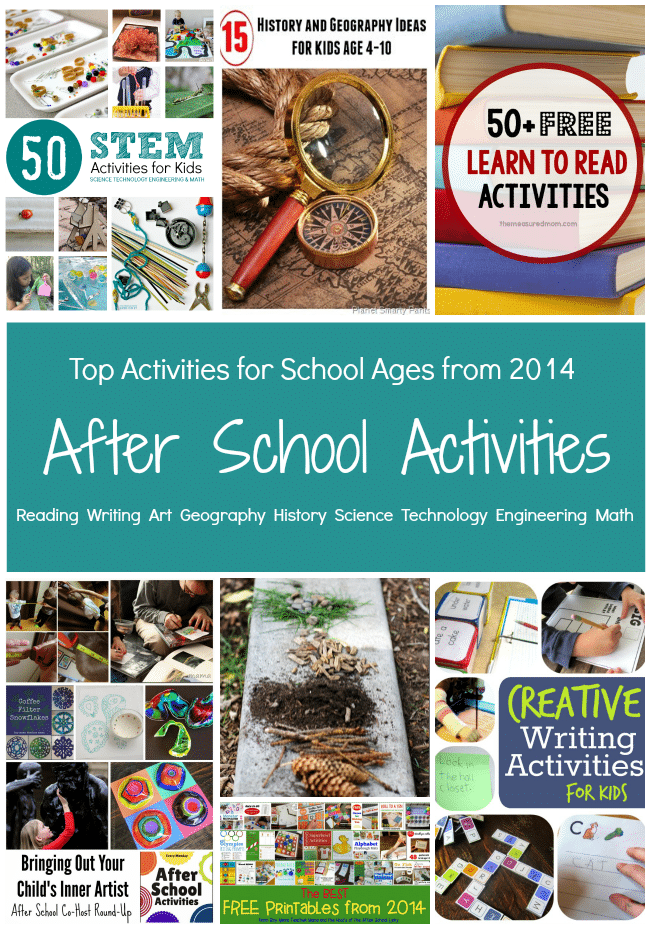 Top Activities for After School Fun with Kids featuring the After School Linky Party Team