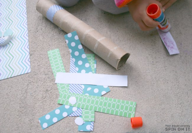 Using Scrapbook Paper for Snake Craft from the book Mouse Count
