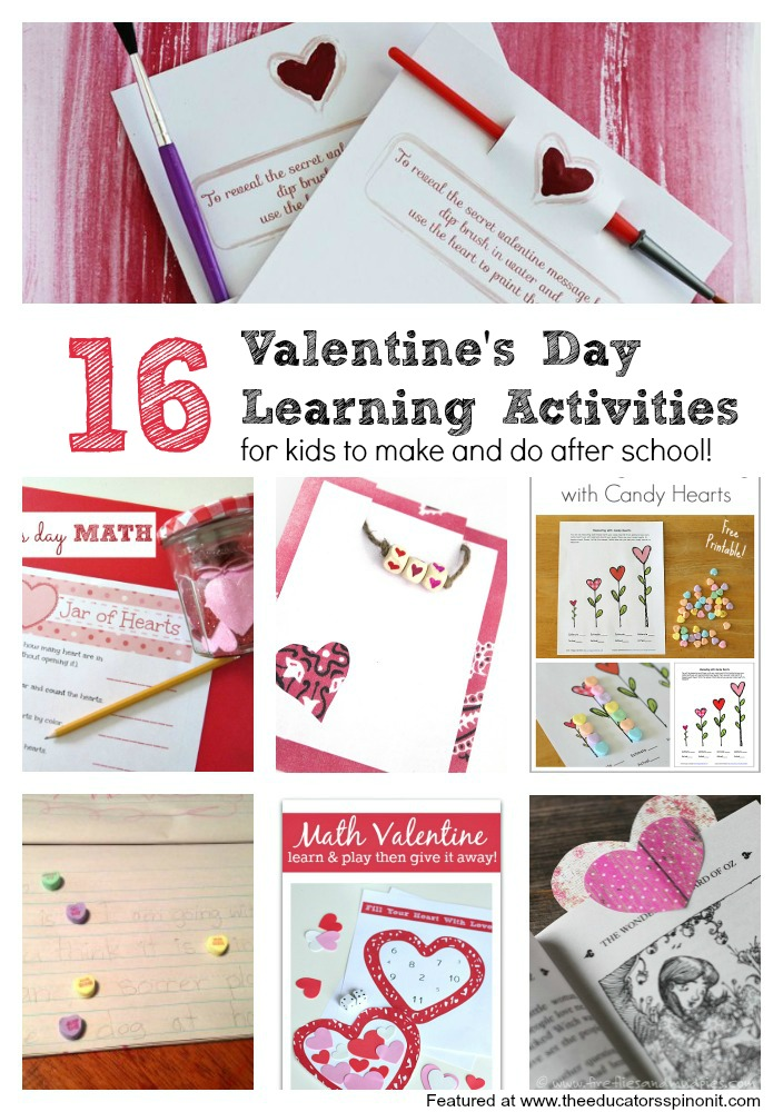 Valentine's Day Activities for Kids to Make and Do: Great for after school.