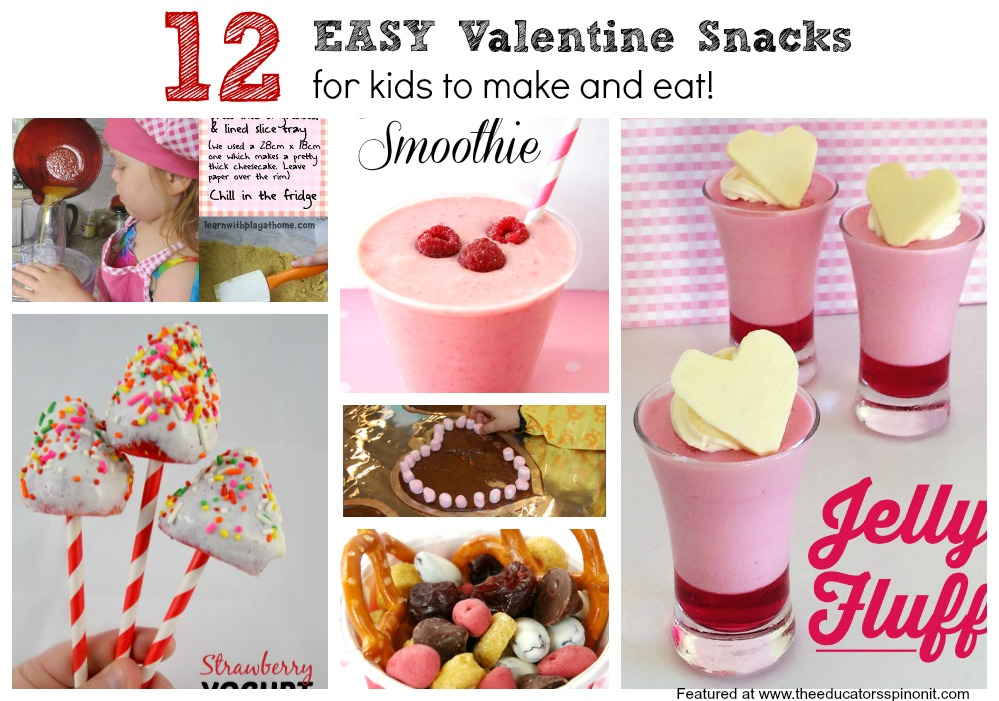 Easy Valentine Snacks for Kids to Make