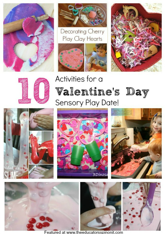 Valentine's Day Sensory Play Ideas for Kids