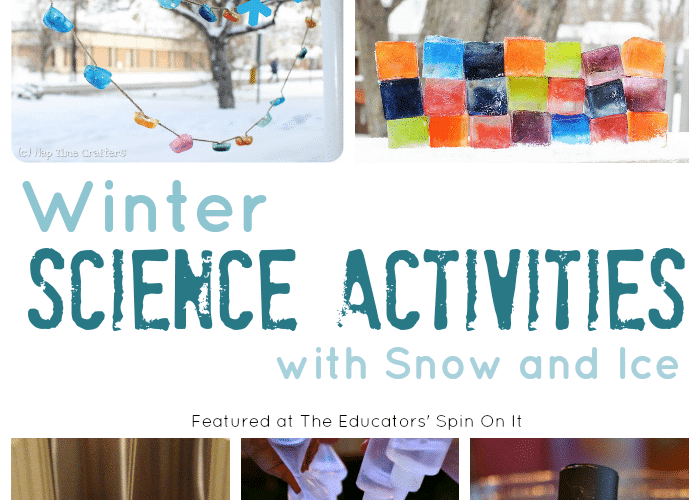 Easy Winter Science Activities with Ice and Snow for Kids