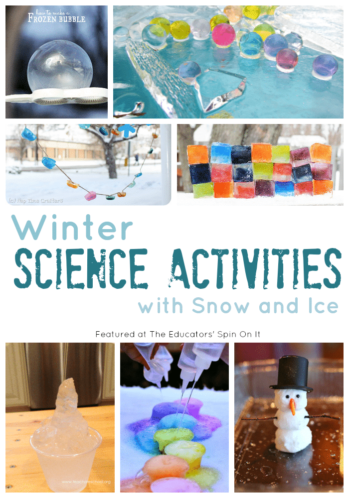 Winter Science ACtivities with Snow and Ice from The Educators' Spin On It