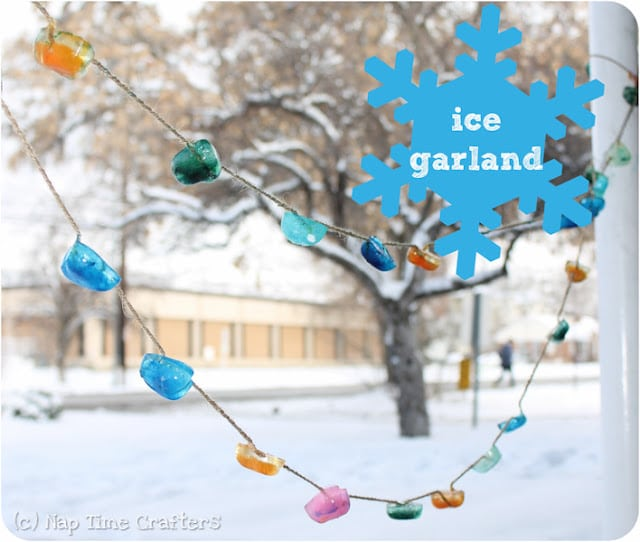 Ice Garland idea for Winter Fun with Kids