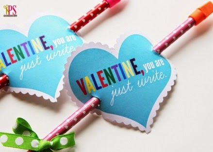 """Pencil themed valentine with printable saying """"Valentine, you are just write"""""""