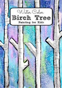 Water Color Birch Tree Painting for Kids #eduspin