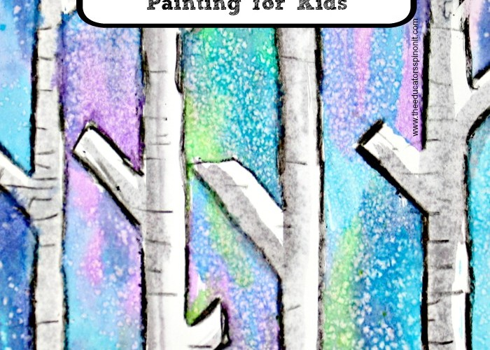 Easy Birch Tree Painting with Kids