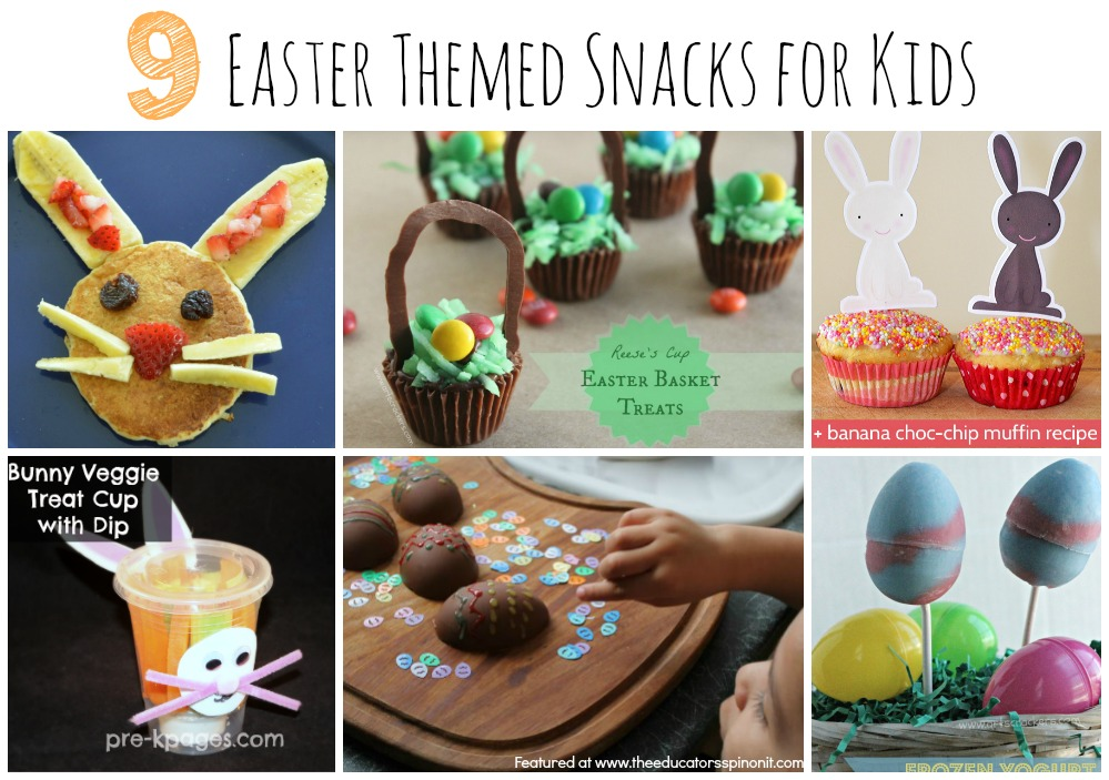 Egg and Bunny Snaped Snack Ideas for Easter