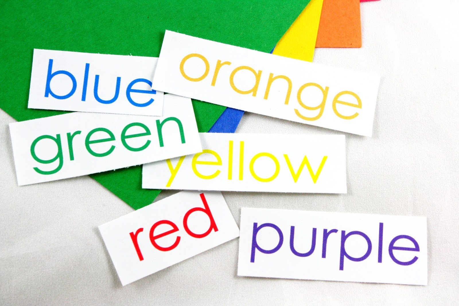 Color Word cards