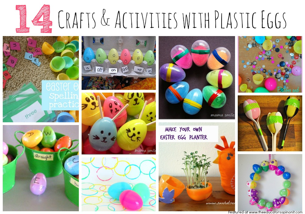 14 Plastic Egg Crafts and Activities for Kids