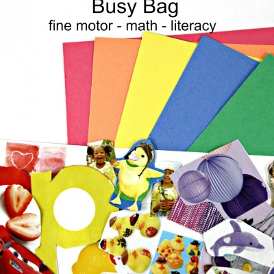 Quick and Easy Rainbow Busy Bag for Kids