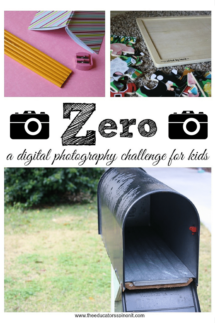 Zero, a digital photography challenge for kids