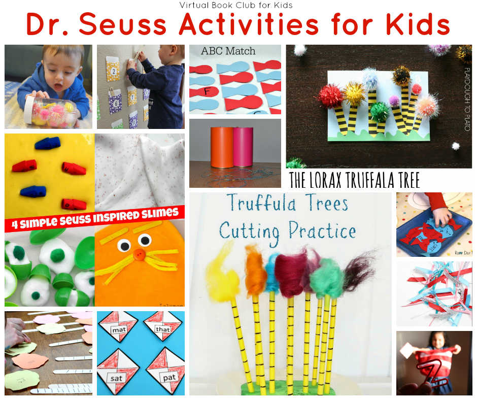 Collection of activities inspired by Dr. Seuss Books.