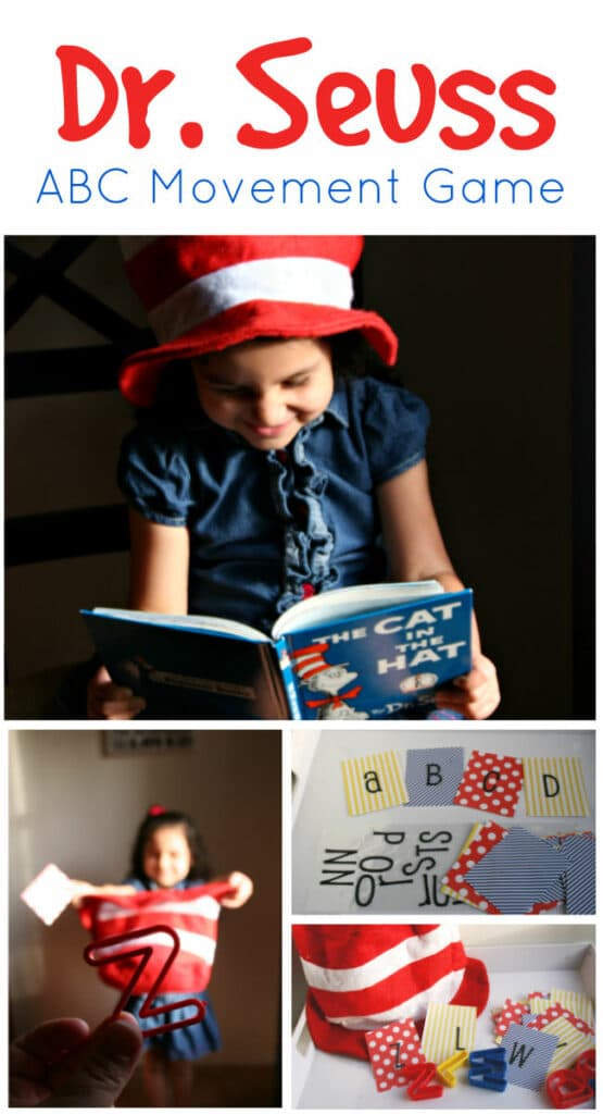How to create a letter game inspired by the book The Cat in the Hat by Dr. Seuss