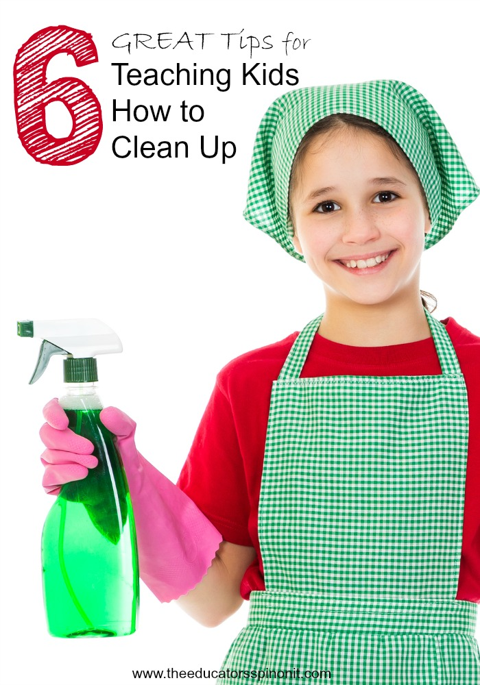 6 GREAT Tips for Teaching Kids How to Clean Up: No more running after your kids picking up, teach them how to clean up on their own with these 6 easy tips.