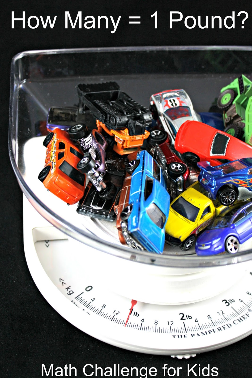 A fun and easy math challenge for kids. How many vehicles equals 1 pound?