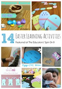 Egg and Bunny Themed Learning Ideas for Kids