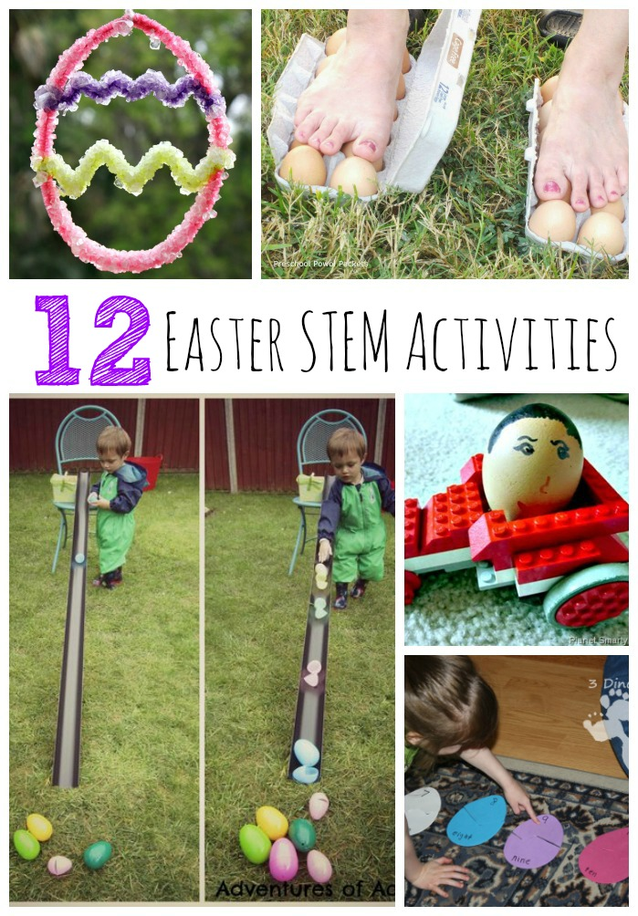 12 Easy and FUN Easter STEM activities for Kids to make and do