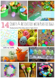 14 Crafts and Activities with Plastic Eggs