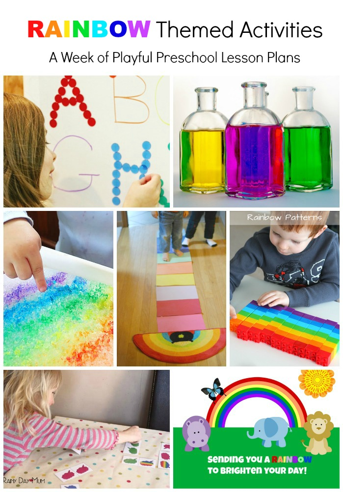 Rainbow theme activities for kids to make and do!  Great for learning letters, simple rainbow science, technology connections and more!