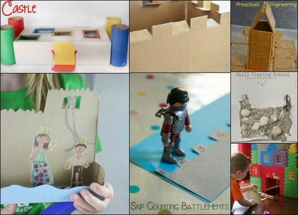 Hands-On Castle Themed Learning Activities from the #PLAYfulPreschool team!