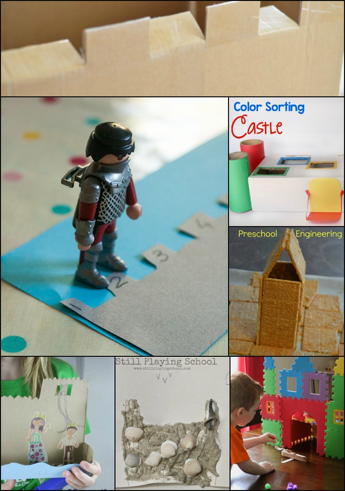 Hands-On Castle Themed Learning Activities from the #PLAYfulPreschool team! Preschool math, preschool science, preschool art, preschool engineering.