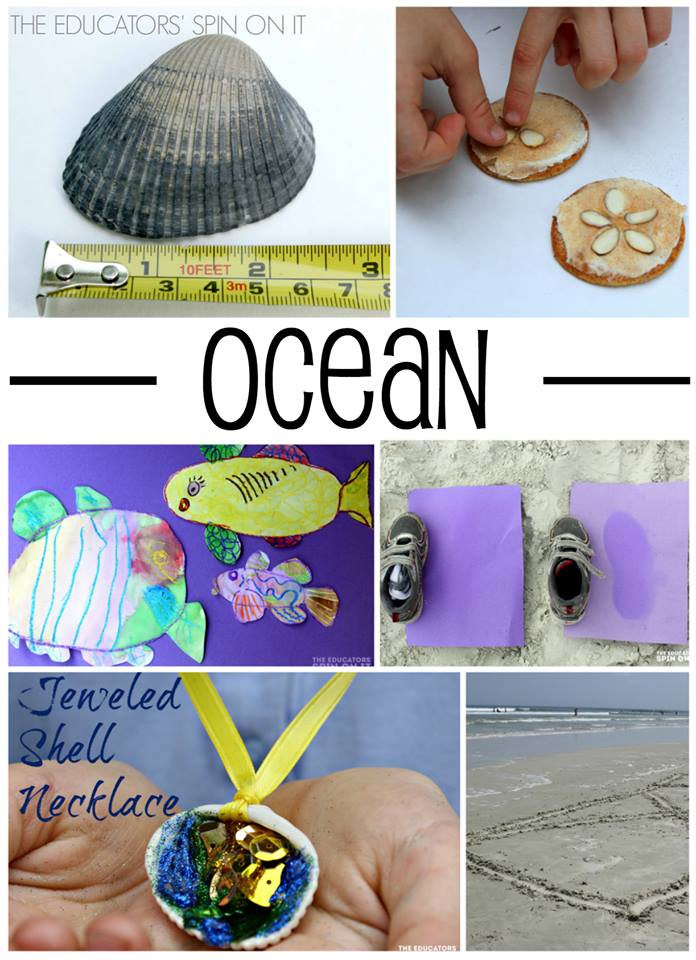 An entire week packed with fun ocean themed learning activities for kids. Math, science, crafts, cooking and MORE! PLUS another 5 themes make this the perfect summer camp for kids ages 3-7!
