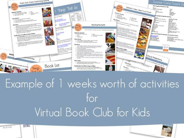 Virtual Book Club Summer Camp Activity Sheets