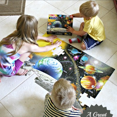 Learning about Earth Through Play | Solar System Floor Puzzle