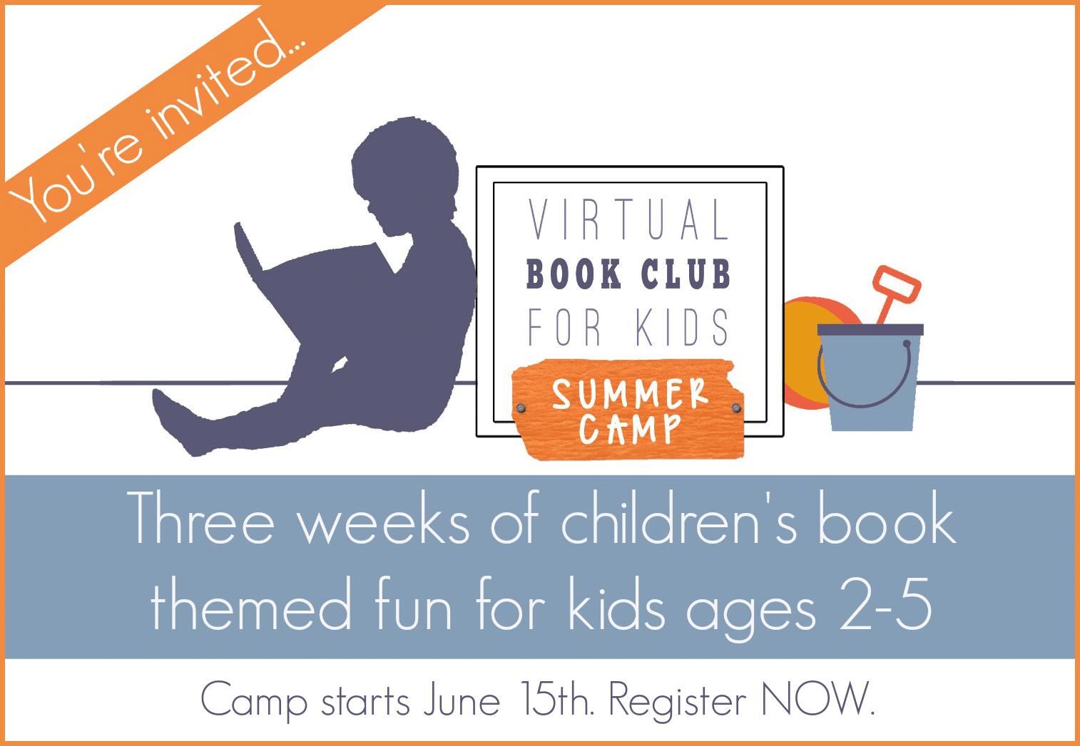 Virtual Book Club for Kids Summer Camp Registration