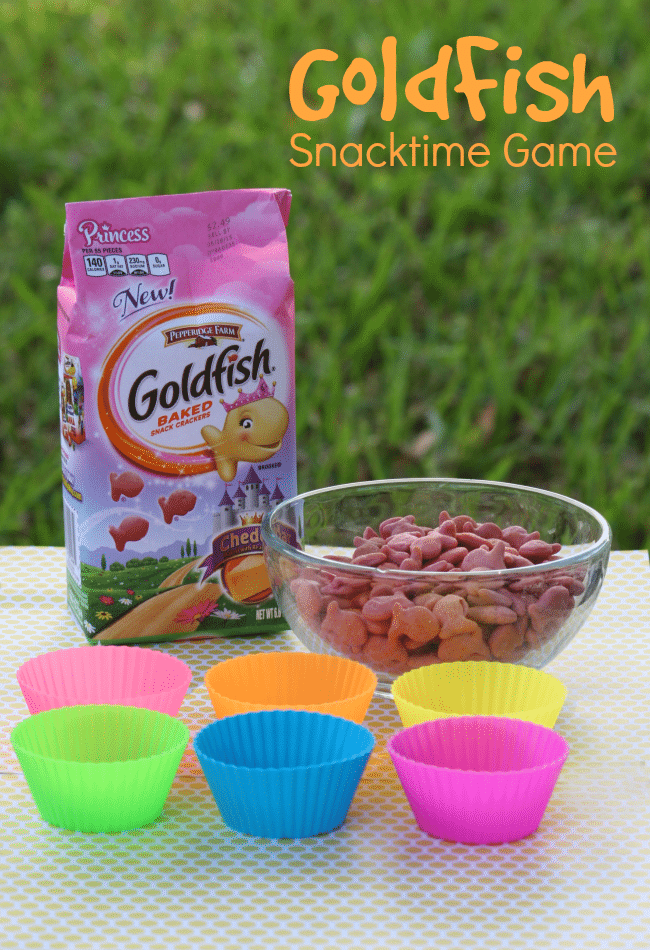 Goldfish counting game for kids with muffin containers