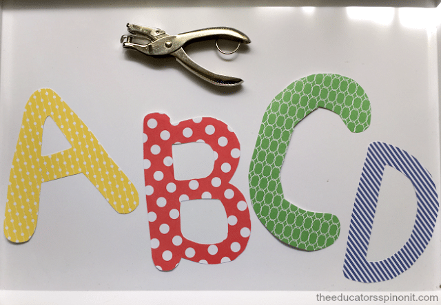 Lacing Letters Inspired by The Very Hungry Caterpillar
