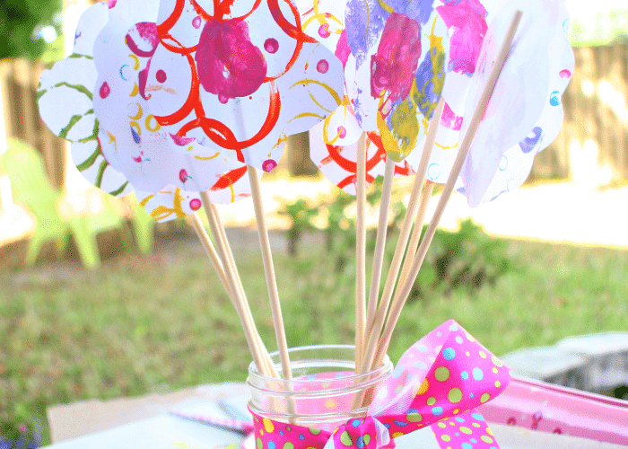 Handmade Painted Paper Mother's Day Flower Arrangement