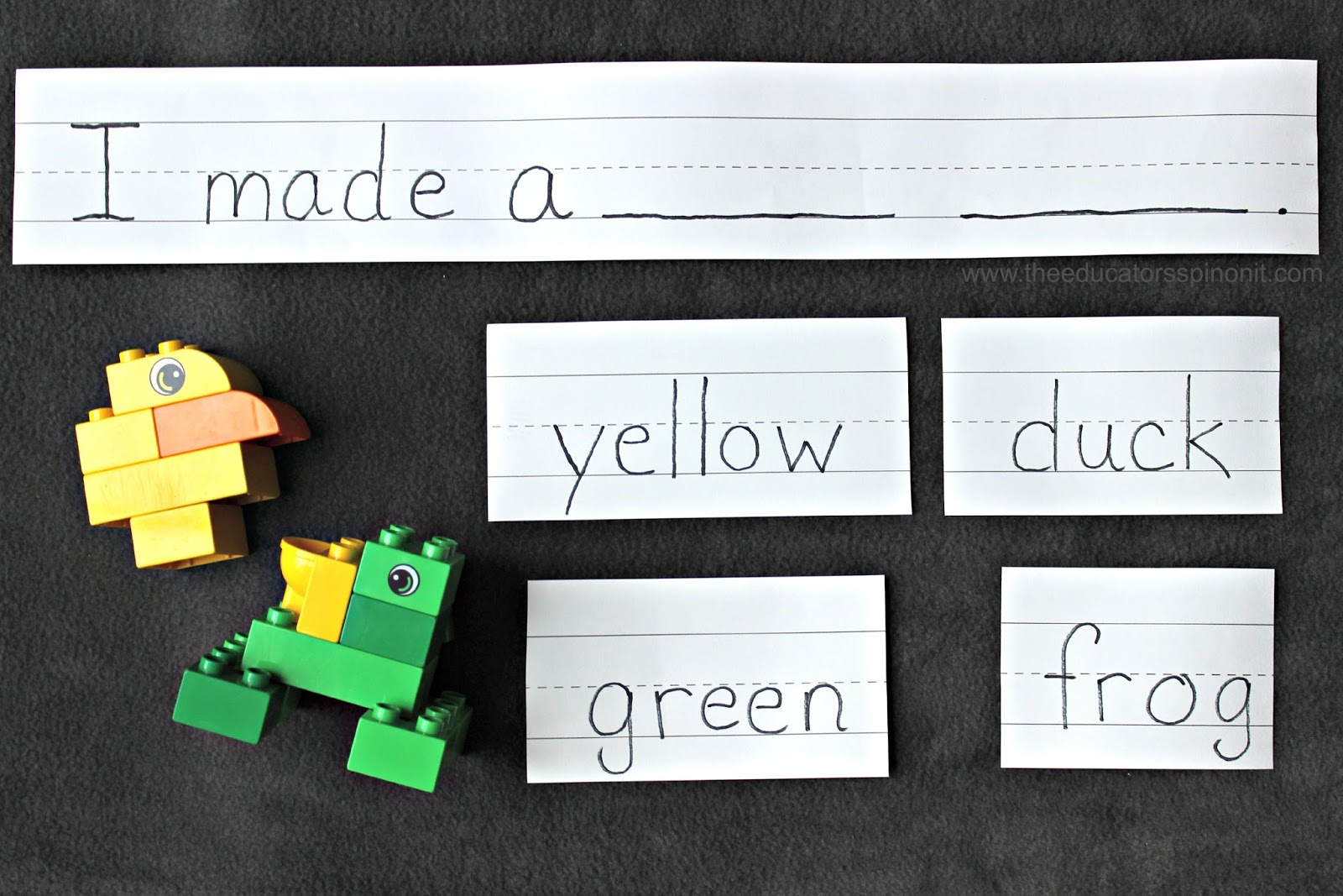 Learn to Read Simple Sentences with LEGO Pond Animals