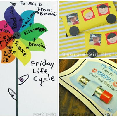 Teacher Gift Ideas for Teacher Apprecation Week and End of School Year