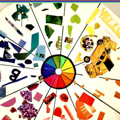 GIANT Color Wheel Collage | A Great Sibling Activity