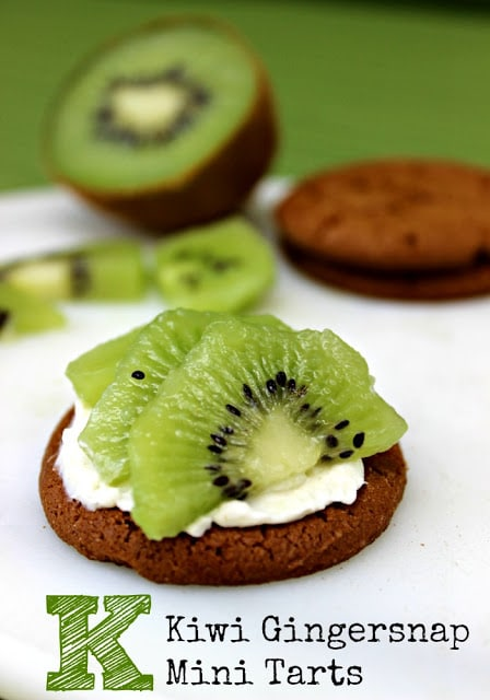 Kiwi Gingersnap Mini Tart