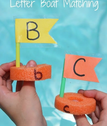 Pool Noodle Alphabet Boat Matching Game