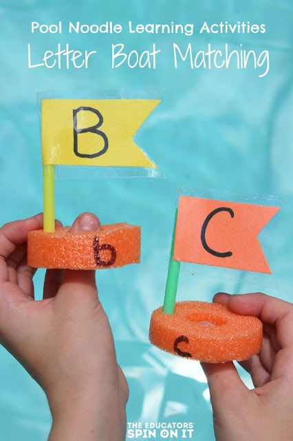 For less than a few dollars, you can make and build this alphabet boat matching game with your child to help them learn their ABC's