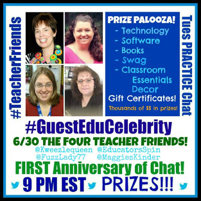 Celebrating our ONE YEAR Anniversary of #TEACHERFRIENDS Twitter Chat! with PRIZES!