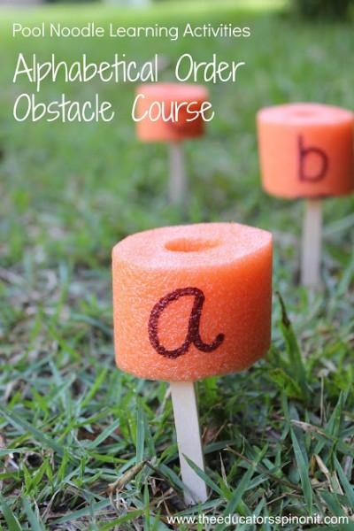 Pool Noodle Learning Activity: Alphabetical Order Obstacle Course